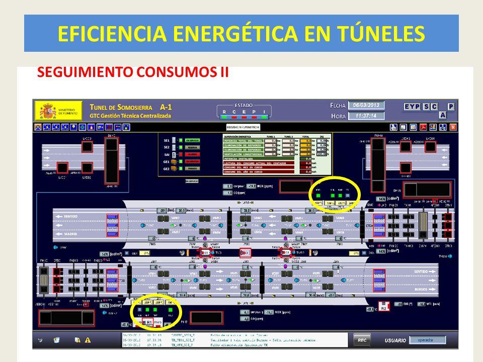 EFICIENCIA ENERGÉTICA EN TÚNELES 44 SEGUIMIENTO CONSUMOS II