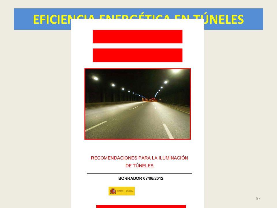 EFICIENCIA ENERGÉTICA EN TÚNELES 57