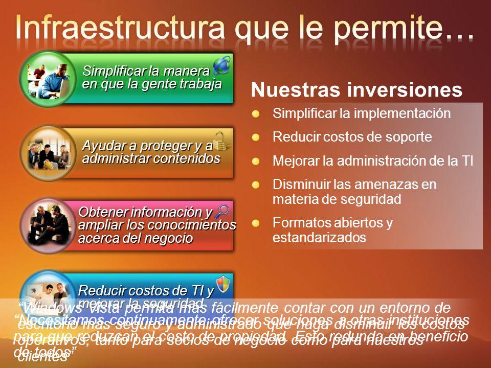 Conozca más: www.microsoft.com/argentina/technet Prueben los productos Prepárense para crecer más.