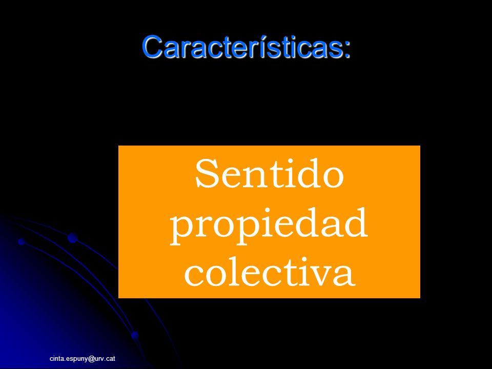 cinta.espuny@urv.cat Características: INFORMACI Sentido propiedad colectiva