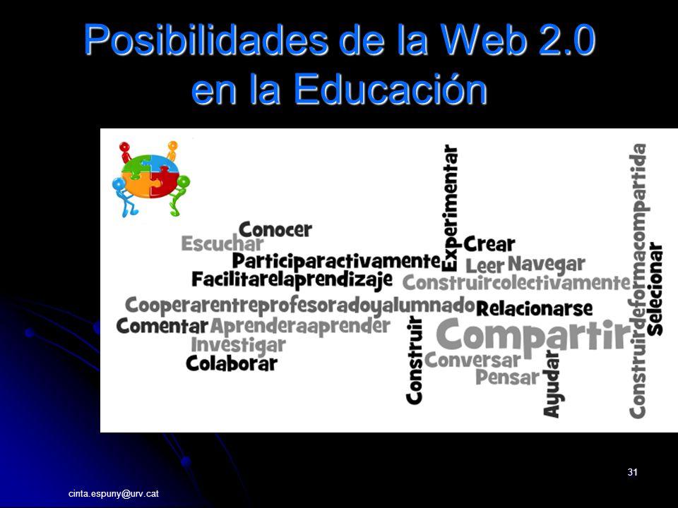 31 Posibilidades de la Web 2.0 en la Educación