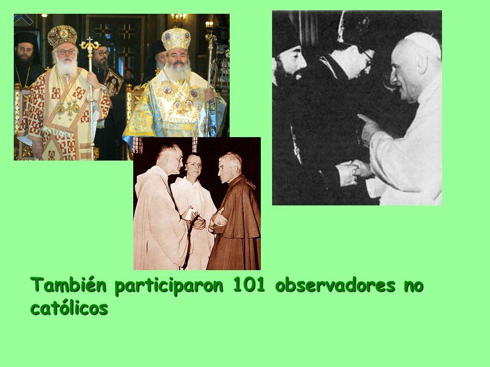 También participaron 101 observadores no católicos