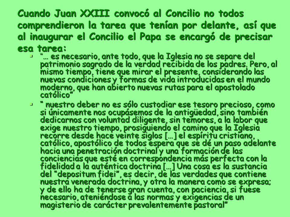 Cuando Juan XXIII convocó al Concilio no todos comprendieron la tarea que tenían por delante, así que al inaugurar el Concilio el Papa se encargó de p