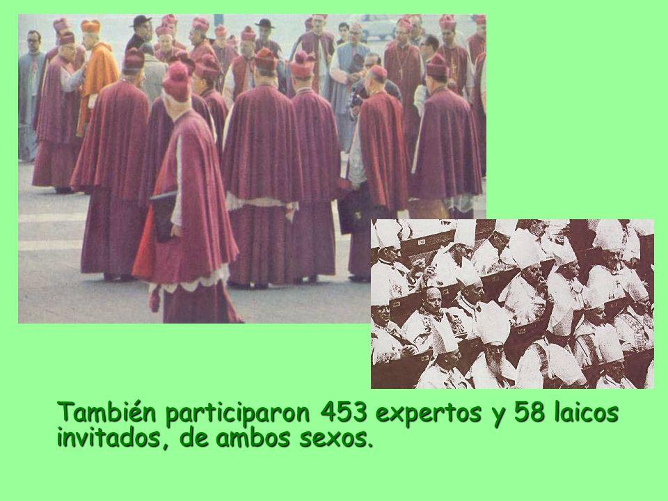 También participaron 453 expertos y 58 laicos invitados, de ambos sexos.