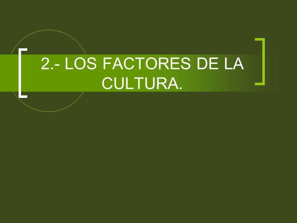 2.- LOS FACTORES DE LA CULTURA.