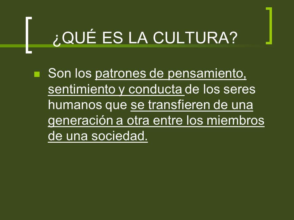 Elementos importantes de la definición de cultura: 1.