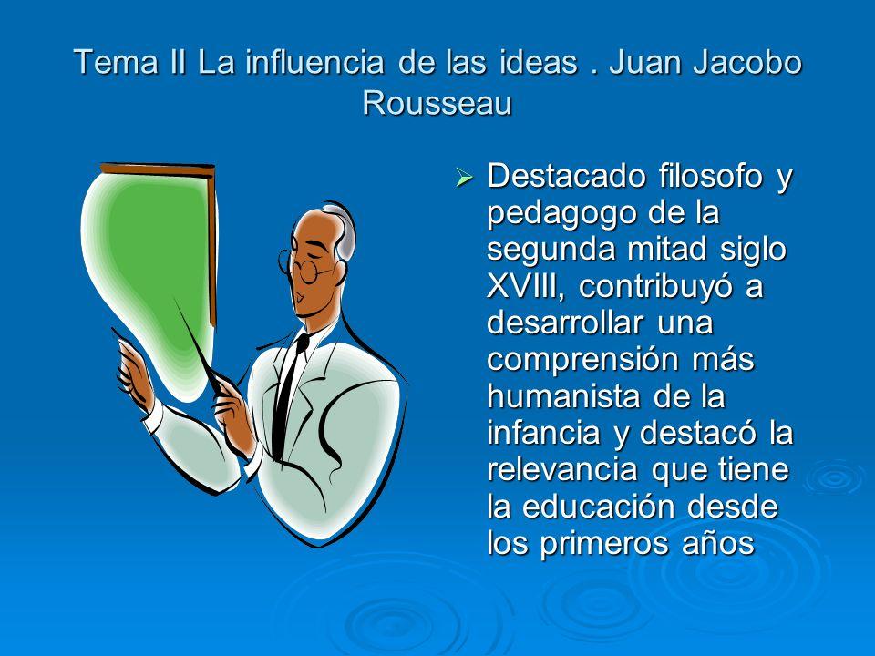 Tema II La influencia de las ideas.