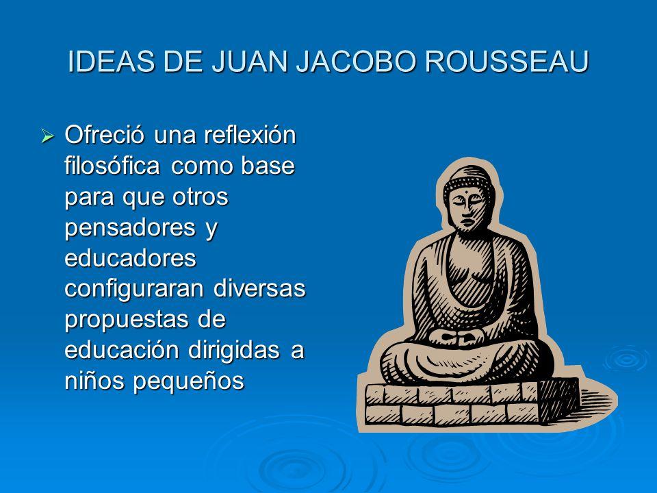 Tema II La influencia de las ideas. Juan Jacobo Rousseau Destacado filosofo y pedagogo de la segunda mitad siglo XVIII, contribuyó a desarrollar una c