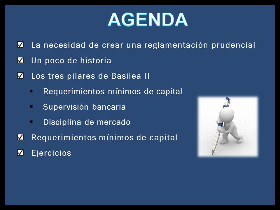 La necesidad de crear una reglamentación prudencial Un poco de historia Los tres pilares de Basilea II Requerimientos mínimos de capital Supervisión b