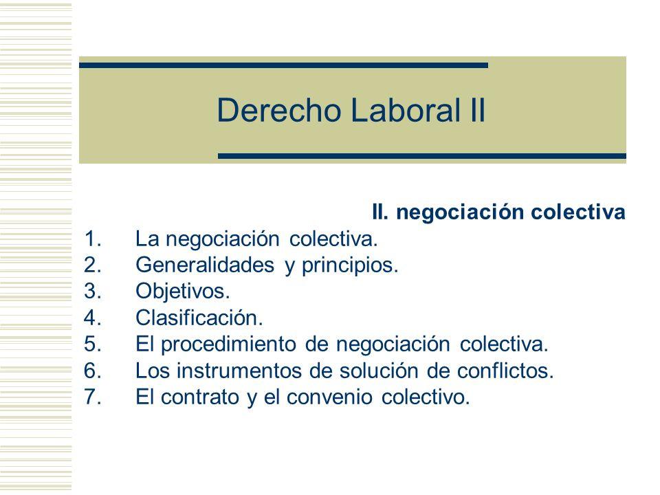Derecho Laboral II II.negociación colectiva 1.La negociación colectiva.