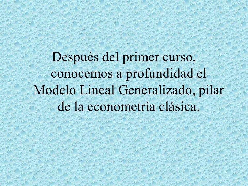 ¡¡¡ Bienvenidos nuevamente a los Cursos de Econometría !!.