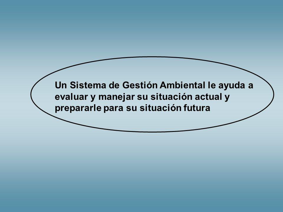 Un Sistema de Gestión Ambiental le ayuda a evaluar y manejar su situación actual y prepararle para su situación futura