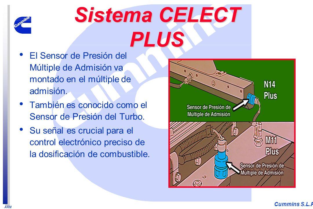 ARM Cummins S.L.P. El Sensor de Presión del Múltiple de Admisión va montado en el múltiple de admisión. También es conocido como el Sensor de Presión
