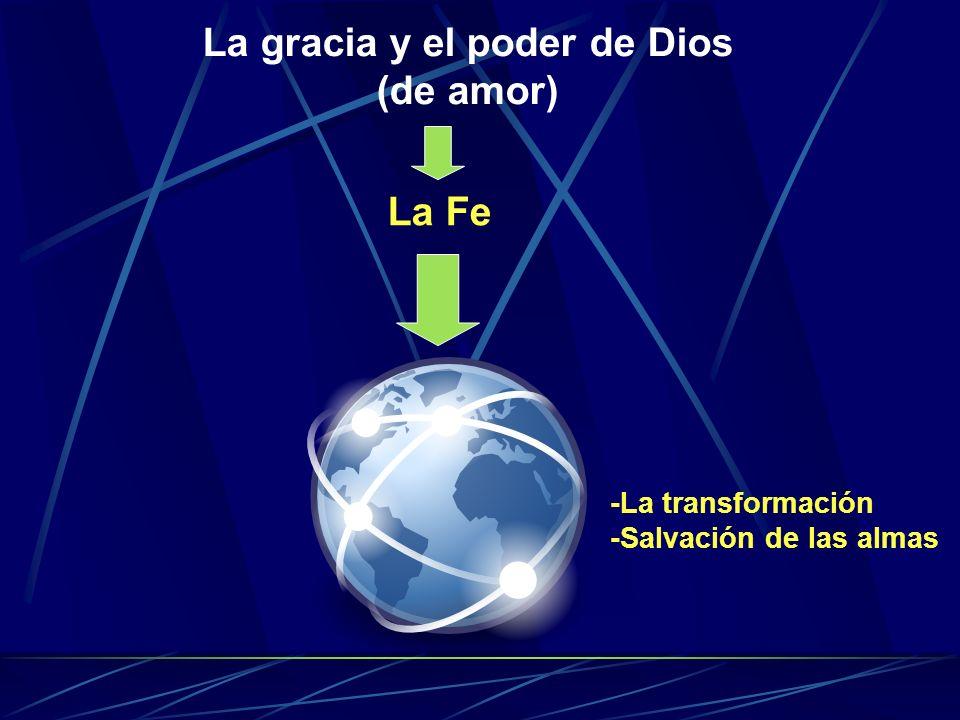 La gracia y el poder de Dios (de amor) La Fe -La transformación -Salvación de las almas