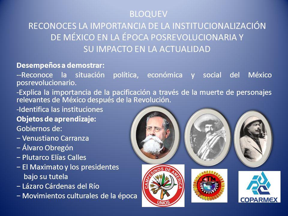 GOBIERNO DE VENUSTIANO CARRANZA La Revolución Mexicana dejó a México muy desgastado de sus estructuras sociales, el número de muertos durante la fase armada se calculaba en más de un millón y medio de personas.