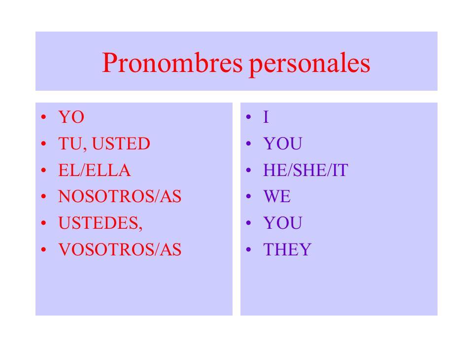 COMO COMPLEMENTO (Pronombres Objetivos) (mí) me me, a mí (iú) you te, a ti, a usted (jím) him le, a él (jer)herle, a ella (it)itle, a ello (para cosas) (as)usnos, a nosotros, a nosotras (iú)youles, a ustedes; a vosotros, a vosotras (dém ) themles, a ellos, a ellas