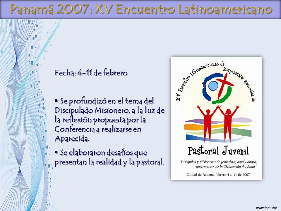 Fecha: 4-11 de febrero Se profundizó en el tema del Discipulado Misionero, a la luz de la reflexión propuesta por la Conferencia a realizarse en Apare