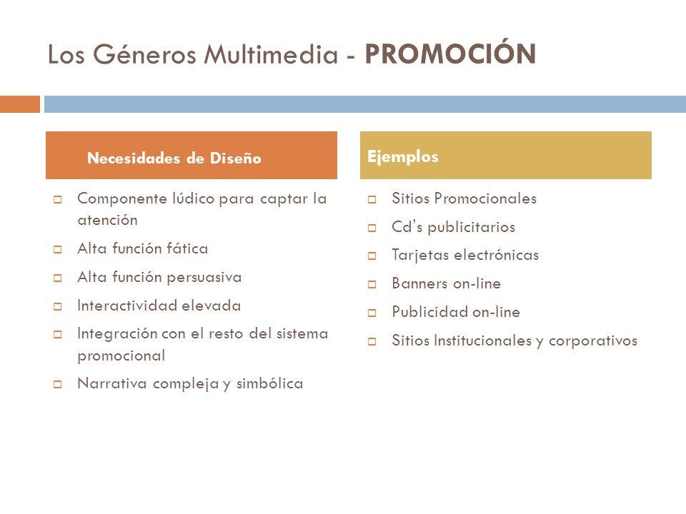 Los Géneros Multimedia – E.