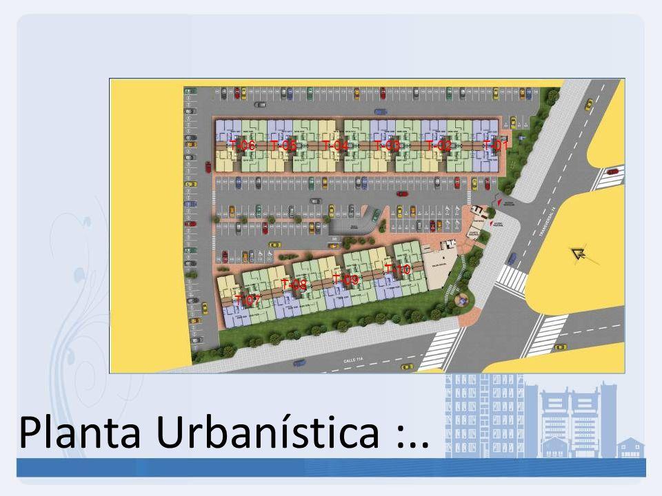 Planta Urbanística :.. T-01T-02T-03T-04T-05T-06 T-07 T-08 T-09 T-10