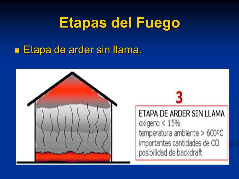 Etapas del Fuego Etapa de combustión libre Etapa de combustión libre