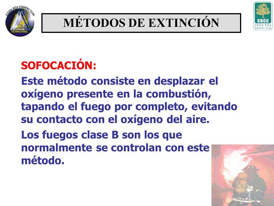 SEGREGACIÓN: Consiste en eliminar o aislar el material combustible que se quema, usando dispositivos de corte de flujo o barreras de aislamiento, ya q