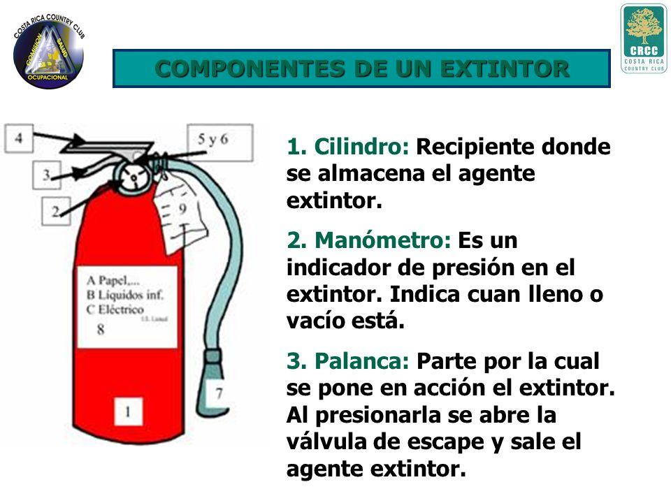 Extintores Portátiles Es un aparato diseñado especialmente para que permita la descarga de una determinada cantidad de agente extinguidor almacenado e