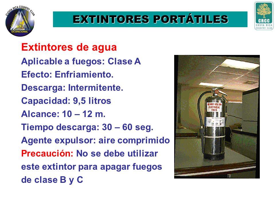 7. Boquilla: Parte por donde sale el agente extintor. 8. Panel de instrucciones: placa que contiene la información acerca del extintor, precauciones d