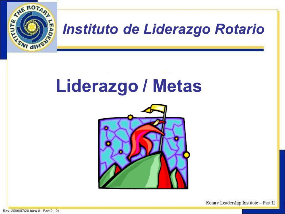 1 Instituto de Liderazgo Rotario Liderazgo / Metas
