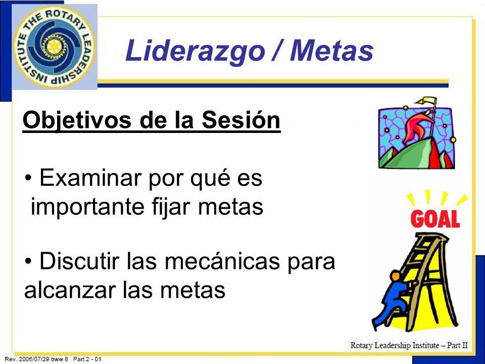 2 Objetivos de la Sesión Examinar por qué es importante fijar metas Discutir las mecánicas para alcanzar las metas
