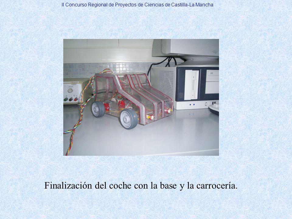 Finalización del coche con la base y la carrocería. II Concurso Regional de Proyectos de Ciencias de Castilla-La Mancha