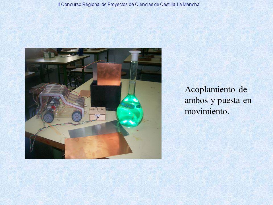 Acoplamiento de ambos y puesta en movimiento. II Concurso Regional de Proyectos de Ciencias de Castilla-La Mancha