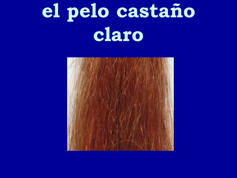 el pelo castaño claro