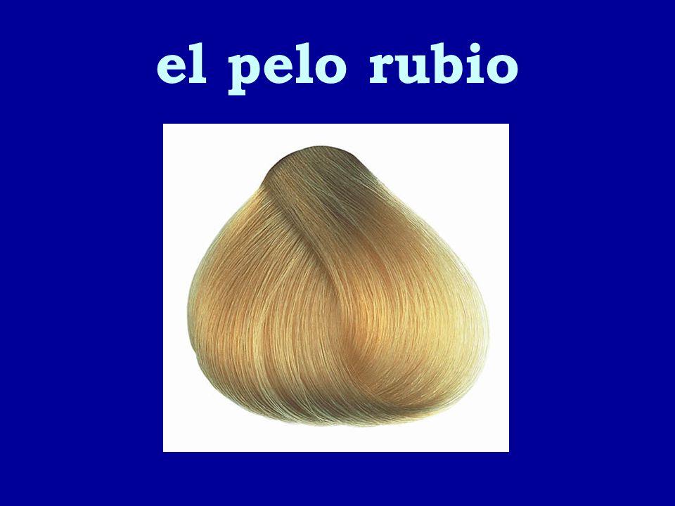 el pelo rubio