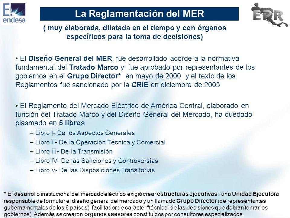 La Reglamentación del MER El Diseño General del MER, fue desarrollado acorde a la normativa fundamental del Tratado Marco y fue aprobado por represent