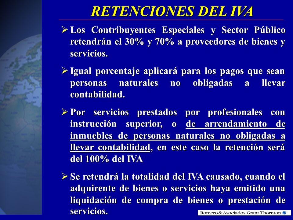 AGENTES DE RETENCION Las sociedades y personas naturales que el SRI haya calificado como contribuyente especial Las sociedades y personas naturales qu