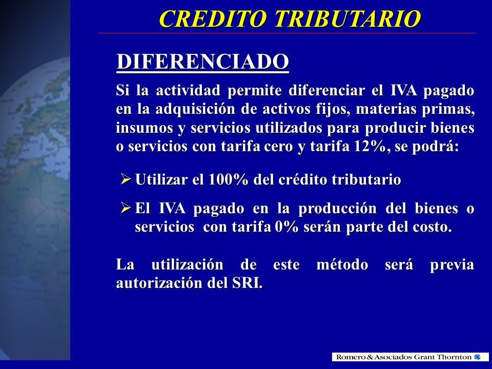 PARCIAL Cuando transfiera bienes o preste servicios en parte gravados con tarifa 12% o exportados o en parte gravados con tarifa 0%. Cuando transfiera