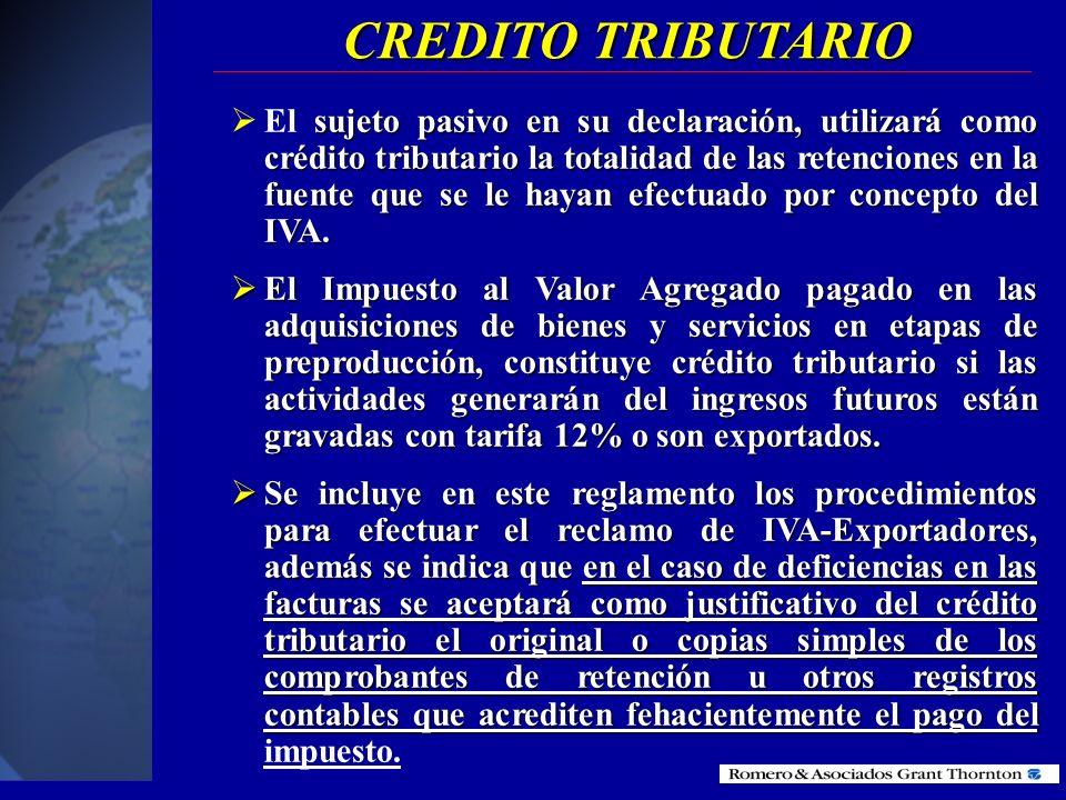 DIFERENCIADO Utilizar el 100% del crédito tributario Utilizar el 100% del crédito tributario El IVA pagado en la producción del bienes o servicios con