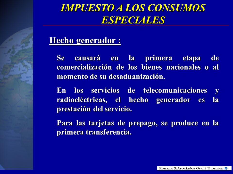 Base Imponible: IMPUESTO A LOS CONSUMOS ESPECIALES 1.Bienes de producción nacional Está constituida por el precio de venta al público menos el IVA 2.P