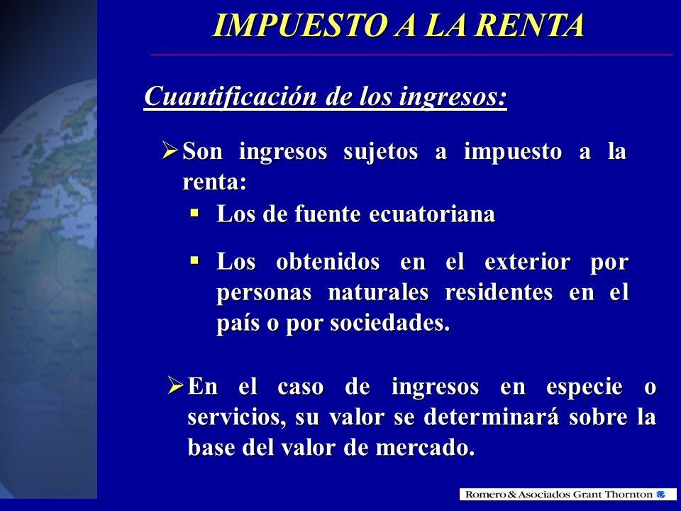 PAGOS AL EXTERIOR Los pagos al exterior están sometidos a la retención del 25% de Impuesto a la renta (última reforma en mayo del 2001).