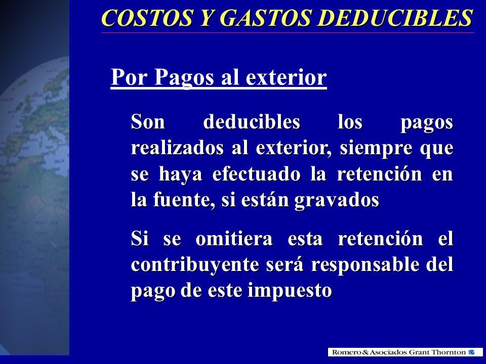 COSTOS Y GASTOS DEDUCIBLES Otras deducciones: 1. Los intereses de deudas contraídas con las instituciones del sistema financiero nacional, comisiones.