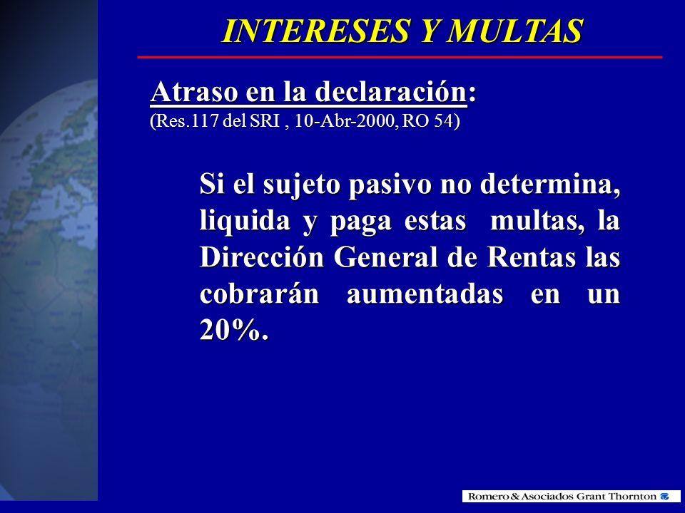Los intereses se calcularan de acuerdo al artículo 20 del Código tributario, el cual es mensual. Los intereses se calcularan de acuerdo al artículo 20