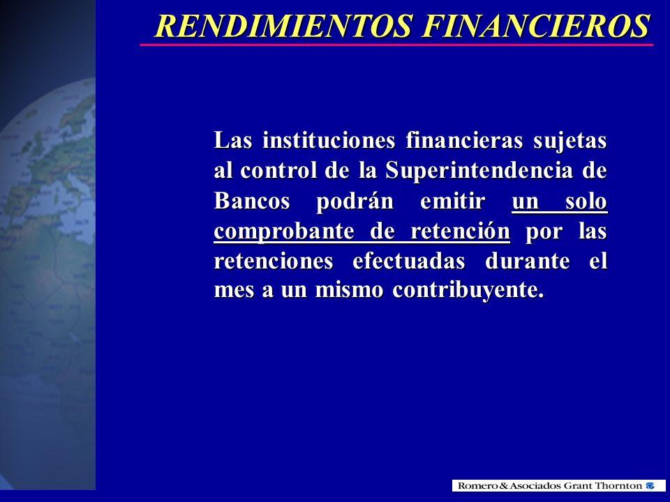 Toda sociedad que pague o acredite en cuenta cualquier tipo de rendimiento financiero, deberá efectuar la retención en la fuente por el porcentaje que
