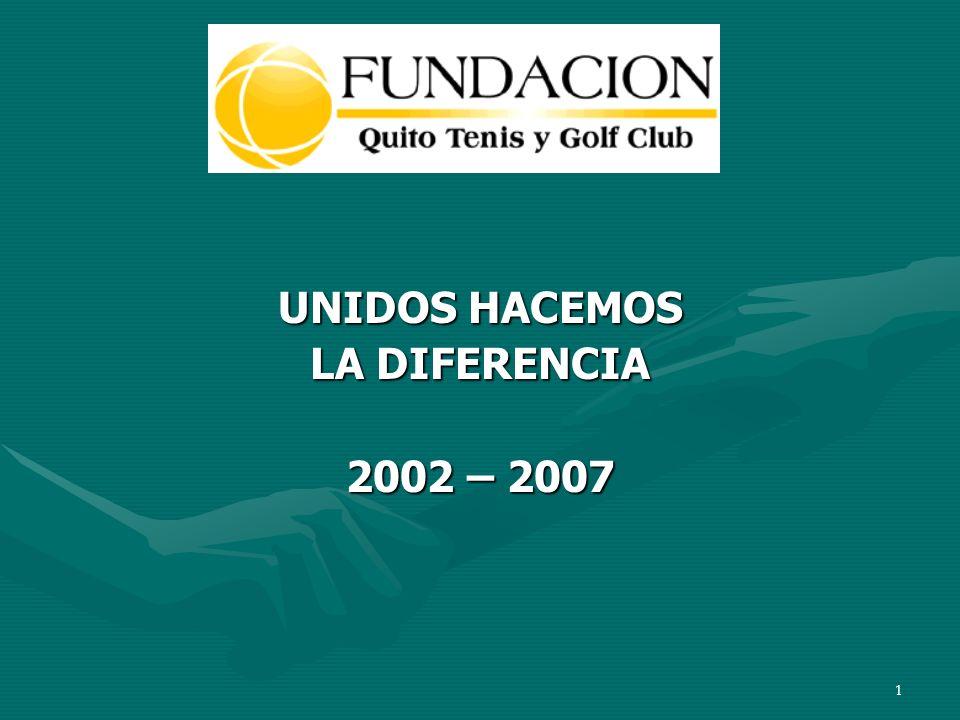 1 UNIDOS HACEMOS LA DIFERENCIA 2002 – 2007