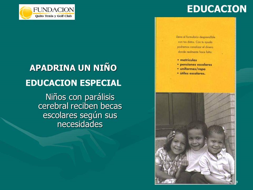 9 Niños con parálisis cerebral reciben becas escolares según sus necesidades APADRINA UN NIÑO EDUCACION ESPECIAL EDUCACION