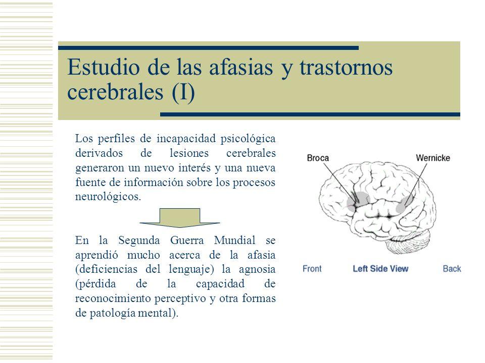 Estudio de las afasias y trastornos cerebrales (I) Los perfiles de incapacidad psicológica derivados de lesiones cerebrales generaron un nuevo interés
