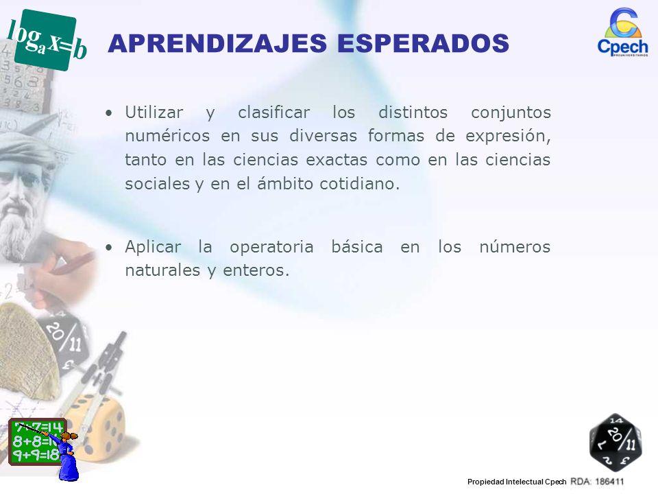 Propiedad Intelectual Cpech APRENDIZAJES ESPERADOS Aplicar las operaciones básicas en los números racionales.