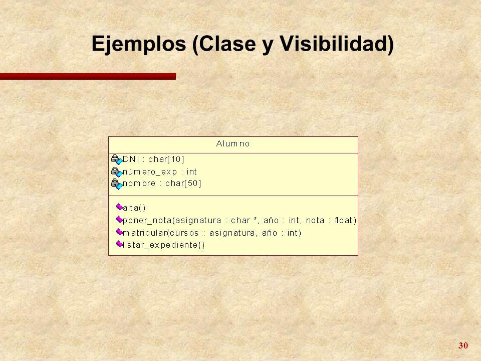 30 Ejemplos (Clase y Visibilidad)
