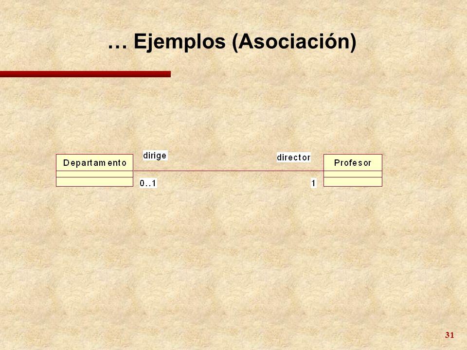 31 … Ejemplos (Asociación)