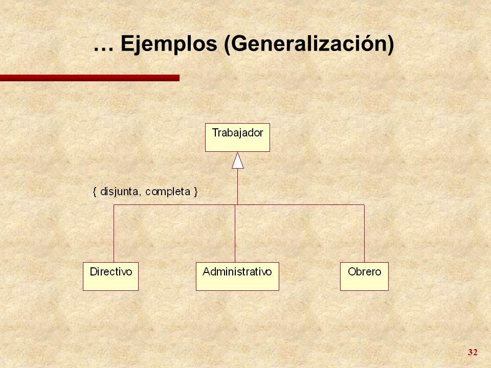 32 … Ejemplos (Generalización)
