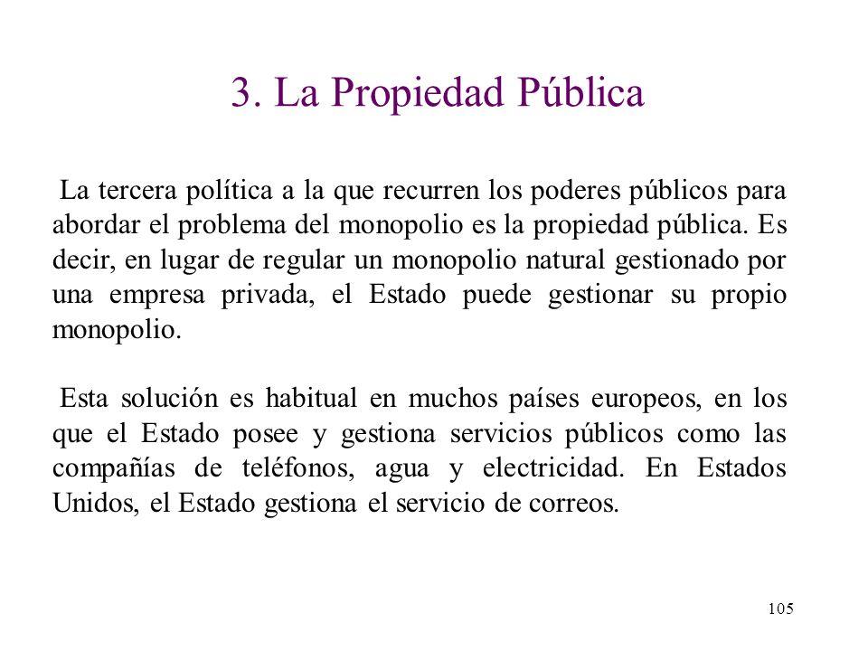 2. La Regulación Los gobiernos también pueden resolver el problema del monopolio regulando la conducta de los monopolistas. Esta solución es habitual